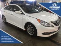 2014 Hyundai Sonata Limited Pearl White ABS brakes,