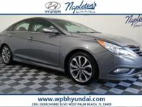 2014 Hyundai Gray Sonata Certified. CARFAX One-Owner.