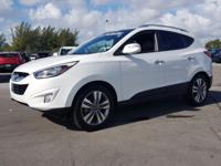 2014 Hyundai Tucson Limited in Winter White, 10 year or