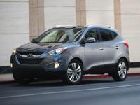 2014 Hyundai Tucson White Certified. Clean CARFAX.
