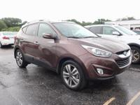 Certified. Bronze 2014 Hyundai Tucson Limited FWD
