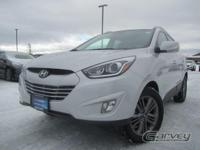 This 2014 Hyundai Tucson is a five-passenger compact