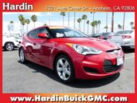 1 OWNER VELOSTER* FRESH TRADE IN* AM/FM/CD/MP3 PLAYER*