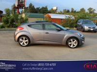 CARFAX One-Owner. Gray 2014 Hyundai Veloster FWD