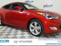 Hyundai Veloster ECOSHIFT CARFAX One-Owner. Clean