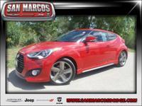 Options:  2014 Hyundai Veloster Turbo|Red/|V4 1.6 L