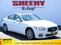 CARFAX One-Owner. White 2014 INFINITI Q50 Premium AWD