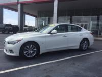 CARFAX One-Owner. Moonlight White 2014 INFINITI Q50