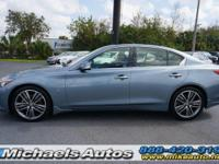 Infiniti Q50 Sedan Premium with Navigation. CARFAX