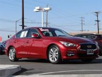 Wow what a stunning Red 2014 Q50 premium sedan. This