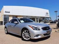 Options:  2014 Infiniti Q60 Convertible|Silver|Summer