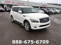 2014 INFINITI QX80 Moonlight White CARFAX One-Owner.