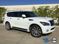 CARFAX One-Owner. Moonlight White 2014 INFINITI QX80