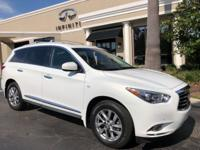 2014 INFINITI QX60 3.5 Moonlight White On Java