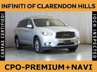 * INFINITI CERTIFIED w. 6Yr UNLIMITED MILE INFINITI CPO