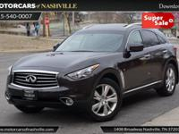 This 2014 INFINITI QX70 4dr AWD 4dr features a 3.7L V6
