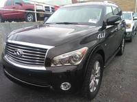 Black 2014 INFINITI QX80 4WD 7-Speed Automatic 5.6L V8