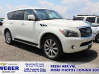 Recent Arrival! Moonlight White INFINITI QX80 **ANOTHER