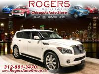 CARFAX 1-Owner, Extra Clean. QX80 trim, Moonlight White