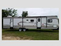 2014 Innsbruck travel trailer, 36 foot, two slide-outs,