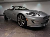 **CERTIFIED** This 2014 Jaguar XK is offered in Rhodium