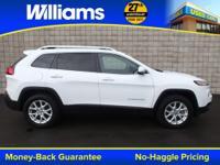 Options:  2014 Jeep Cherokee Latitude|White|Right Suv!