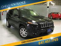 Options:  2014 Jeep Cherokee Latitude|Brilliant Black