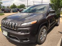 Cherokee Limited. Black 2014 Jeep Cherokee Limited 4WD