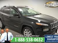2014 Jeep Cherokee Black, Completely inspected and