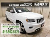 White 2014 Jeep Grand Cherokee Overland 4WD Automatic