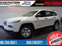 Cherokee Sport, 4D Sport Utility, White, and 2014 Jeep