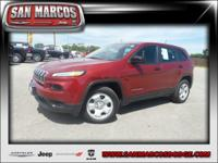 Options:  2014 Jeep Cherokee Sport|Red/|V4 2.4 L