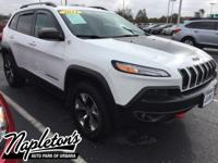 Recent Arrival! 2014 Jeep Cherokee in White, AUX