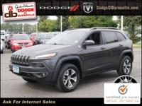 Options:  2014 Jeep Cherokee Trailhawk|Brilliant Black