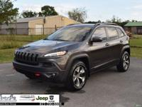 Gray 2014 Jeep Cherokee Trailhawk 4WD 9-Speed 948TE