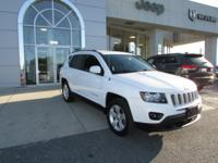 Certified. Bright White Clearcoat 2014 Jeep Compass