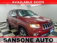 Clean CARFAX. Red 2014 Jeep Grand Cherokee Limited 4WD