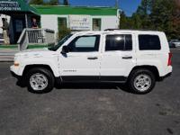 Options:  2014 Jeep Patriot Sport 4Dr Suv|White|2-Stage