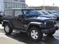 This 2014 Jeep Wrangler is 4X4, equipped with a 3.6L