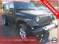 Certified. CARFAX One-Owner. 2014 Jeep Wrangler
