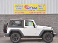 CARFAX One-Owner. Clean CARFAX. White 2014 Jeep