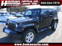 This 2014 Jeep Wrangler Unlimited Sahara is a one owner
