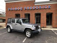 2014 JEEP WRANGLER 4 DOOR SAHARA WITH 4 WHEEL DRIVE AND