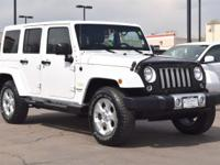 This 2014 Jeep Wrangler Unlimited Sahara comes with