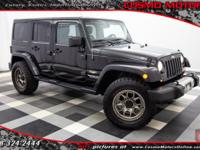 2014 JEEP WRANGLER UNLIMITED SAHARA ONE OWNER!! FOUR