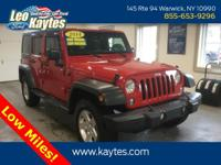 2014 Jeep Wrangler Unlimited Sport 4WD Firecracker Red