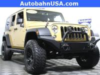Yellow 2014 Jeep Wrangler Unlimited Sport 4WD 6-Speed