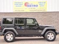 2014 Jeep Wrangler Unlimited Sport  in Black Clearcoat,