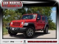 Options:  2014 Jeep Wrangler Unlimited Sport|Red/|V6