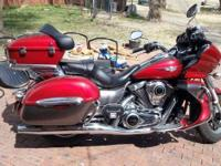 : 2014 Kawasaki Vulcan 1700 with 5720 miles. Garage